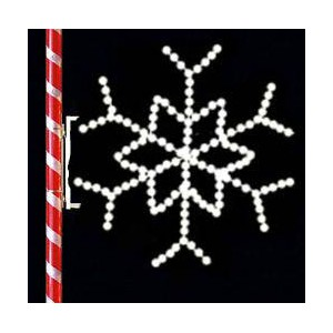 WF-LED-STAR SNOWFLAKE POLE MOUNT