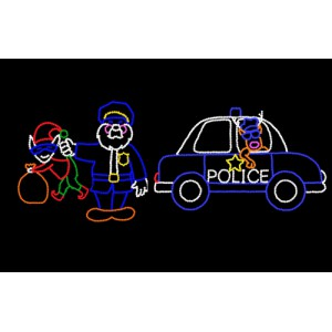 WF-LED-SANTA COP WITH RUDY COP CAR