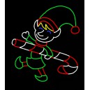 WF-LED-ELF CARRYING CANDY CANE