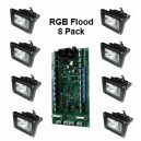 LF-LED-RGB-10W Flood-8 Pack complete