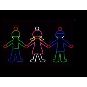 WF-LED-Kids Holding Hands, animated