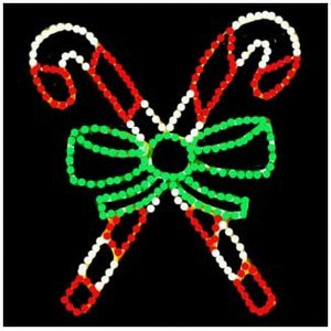 WF-LED-CROSSED CANDY CANES
