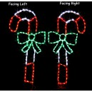WF-LED-CANDY CANE WITH BOW