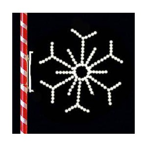 WF-LED-4FT SNOWFLAKE WITH POLE MOUNT