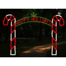 WF-LED-CANDY CANE ARCH 12FT HAPPY HOLIDAYS