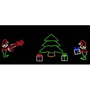 WF-LED-Elf Decorating Tree Scene
