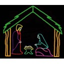 WF-LED-3 PC NATIVITY WITH STABLE