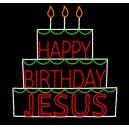 WF-LED-HAPPY BIRTHDAY JESUS CAKE
